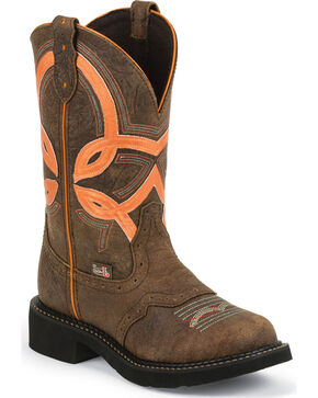 Justin Gypsy Bright Top Cowgirl Boots - Round Toe, Barnwood, hi-res