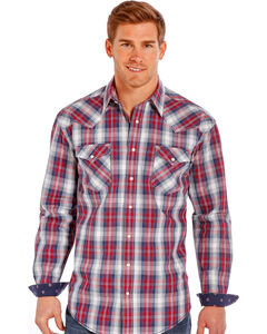 Rough Stock by Panhandle Slim Red Plaid Western Snap Shirt , , hi-res