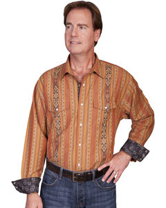 Scully Signature Series Patterned Stripe Western Shirt, , hi-res