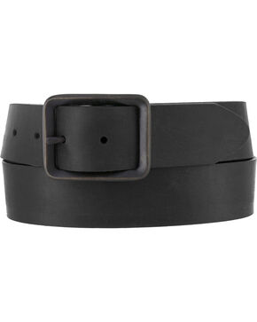 Chippewa Men's Black Buckskin Leather Belt , Black, hi-res
