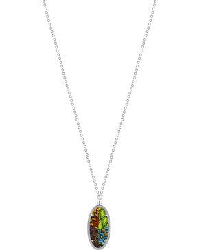 Jilzarah Santa Fe Silver Frame Pendant Necklace, Multi, hi-res