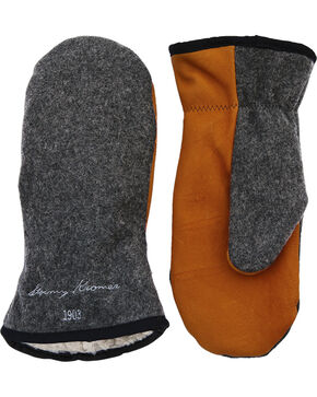 Stormy Kromer Men's Charcoal Grey Tough Mitts, Charcoal Grey, hi-res