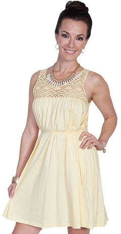 Scully Cantina Collection Scoop Neck Lace Sleeveless Dress, , hi-res