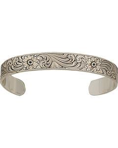 Montana Silversmiths Antiqued Montana Classic Engraved Narrow Cuff, , hi-res