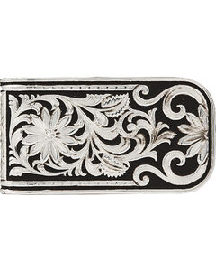 Montana Silversmiths Men's LeatherCut Bitterroot Money Clip, , hi-res
