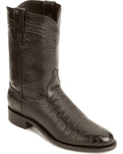 Justin Smooth Ostrich Roper Cowboy Boots, , hi-res