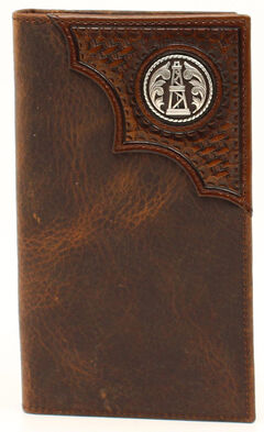 Ariat Basketweave Oil Rig Concho Rodeo Wallet, , hi-res