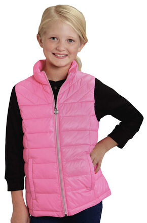 Roper RangeGear Girls' Crushable Vest , Pink, hi-res