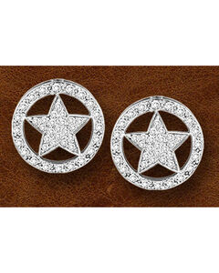 Kelly Herd Sterling Silver Western Star Earrings, , hi-res