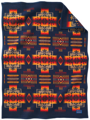 Pendleton Chief Joseph Muchacho Blanket, Indigo, hi-res