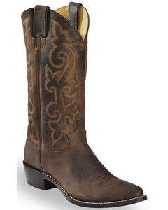 Justin Bay Apache Leather Cowboy Boots - Medium Toe, , hi-res