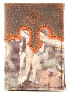 Ariat Camo Tri-fold Wallet, , hi-res