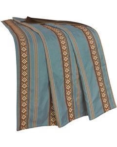 HiEnd Accents Turquoise Stripe Throw Blanket, , hi-res