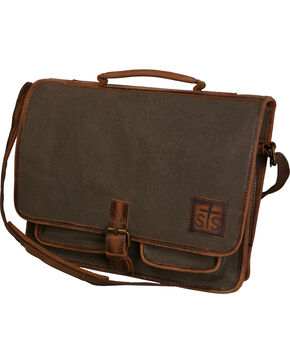 STS Ranchwear Foreman Canvas Portfolio, Brown, hi-res