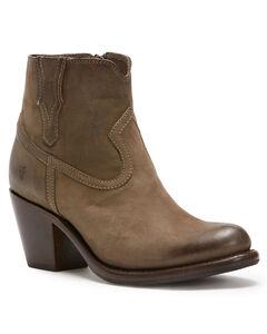 Frye Women's Grey Lillian Western Booties - Round Toe , , hi-res