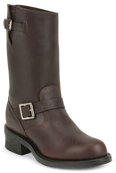 Chippewa Men's 1949 Original Burgundy Engineer Boots - Round Toe, , hi-res