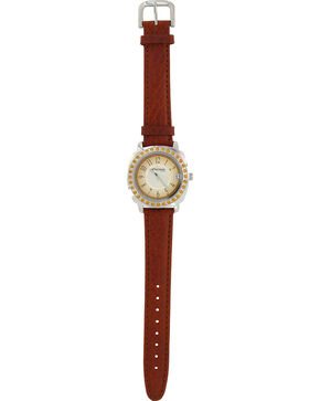 Montana Silversmiths Montana Amber Leather Watch, Brown, hi-res