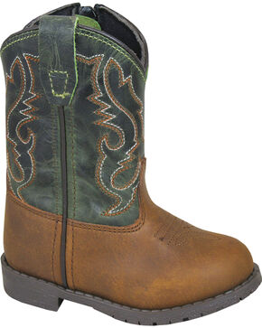 Smoky Mountain Toddler Boys' Hopalong Western Boots - Round Toe , Brown, hi-res