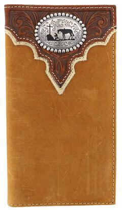 Cody James Men's Leather Praying Cowboy Rodeo Wallet, , hi-res