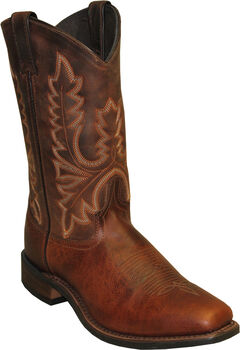 Abilene Brown Stockman Cowboy Boots - Square Toe , , hi-res