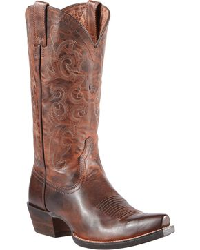 Ariat Alabama Cowgirl Boots - Snip Toe, Brown, hi-res