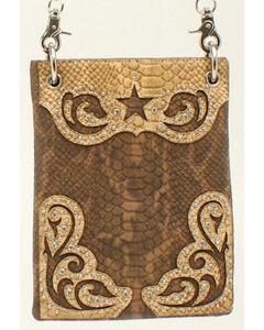 Blazin Roxx Snakeskin Star Messenger Bag, , hi-res