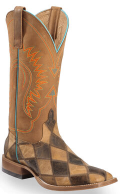 Anderson Bean Boots Horse Power Men's Patchwork Western Boots - Square Toe, , hi-res