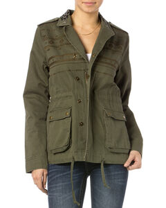 Miss Me Olive Snap To It Cargo Jacket , , hi-res