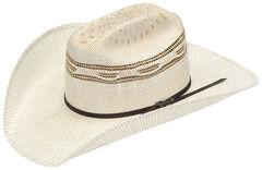 Twister Bangora Straw Two Cord Cowboy Hat, , hi-res