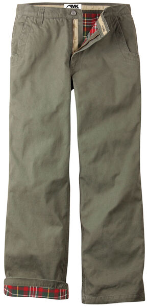 Mountain Khakis Men's Original Mountain Flannel Lined Relaxed Fit Pants, Green, hi-res