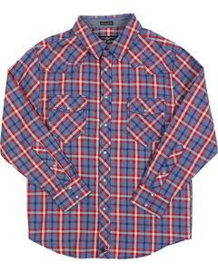 Cody James Boys' Plaid Long Sleeve Western Shirt, , hi-res