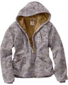 Carhartt Women's Purple Camo Sandstone Sierra Jacket , , hi-res