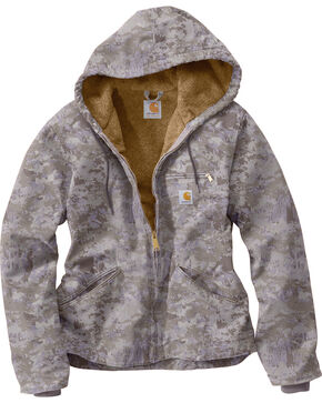 Carhartt Women's Purple Camo Sandstone Sierra Jacket , Purple, hi-res