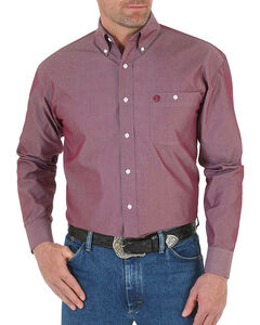 Wrangler Men's George Strait Button Down Long Sleeve Shirt, , hi-res