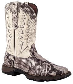 Durango Lady Rebel Snake Print Cowgirl Boots - Square Toe, , hi-res