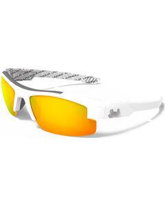 Under Armour Boys' Shiny White Orange Multiflection Nitro Sunglasses, , hi-res