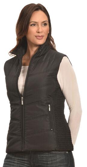 Jane Ashley Women's Black Quilted Princess Vest , Black, hi-res