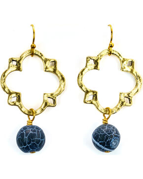 Julio Designs Medal Earrings, Gold, hi-res