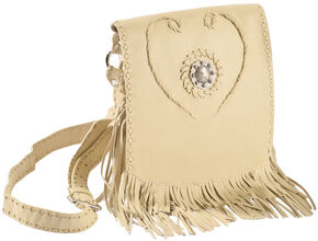 Scully Concho & Fringe Leather Shoulder Bag, Tan, hi-res
