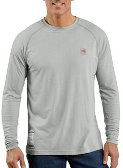 Carhartt Flame Resistant Force Long Sleeve Work Shirt, Grey, hi-res