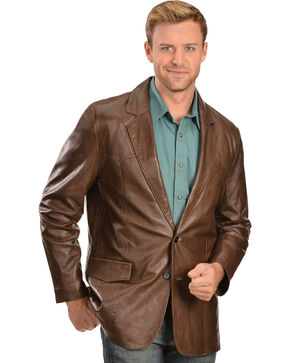 Scully Lamb Leather Blazer - Big & Tall, Chocolate, hi-res