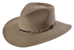Stetson 4X Drifter Buffalo Wool Pinch Front Cowboy Hat, Stone, hi-res