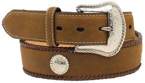Nocona Men's Hired Hand Work Leather Belt, Med Brown, hi-res