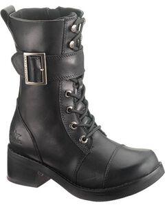Harley Davidson Jammie Women's Black Boots - Round Toe, , hi-res