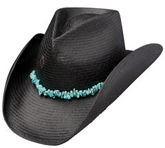 Charlie 1 Horse Tulum Black Straw Western Hat, , hi-res
