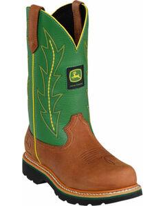 John Deere Crazyhorse Green Cowgirl Boots - Round Toe, , hi-res
