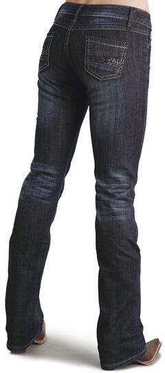 Stetson Women's 818 Fit Contemporary Rhinestone Bootcut Jeans - Plus, , hi-res