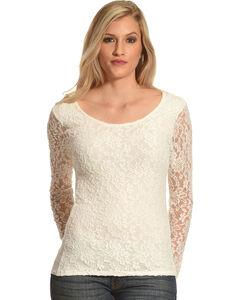 Panhandle Slim Women's Lace Knit Top, , hi-res