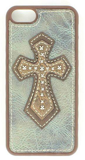 Leather Cross Applique iPhone 5 Case, Blue, hi-res