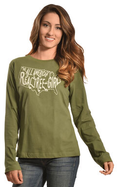 Realtree Girl Olive All-American Long Sleeve T-Shirt, , hi-res